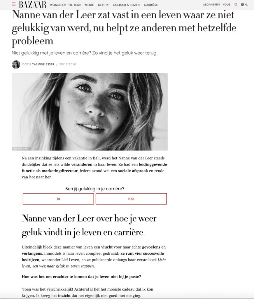 Harpers Bazaar: Nanne van der Leer