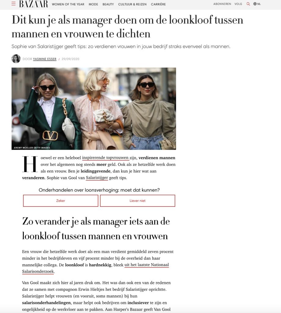 Harpers Bazaar: Dit kun je als manager doen om de loonkloof tussen mannen en vrouwen te dichten