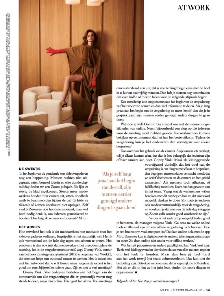 Harper's Bazaar: Kantoorkwestie in print